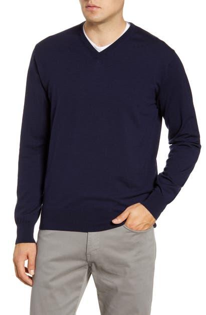 Peter Millar Sweaters EXCURSIONIST FLEX V-NECK WOOL BLEND SWEATER