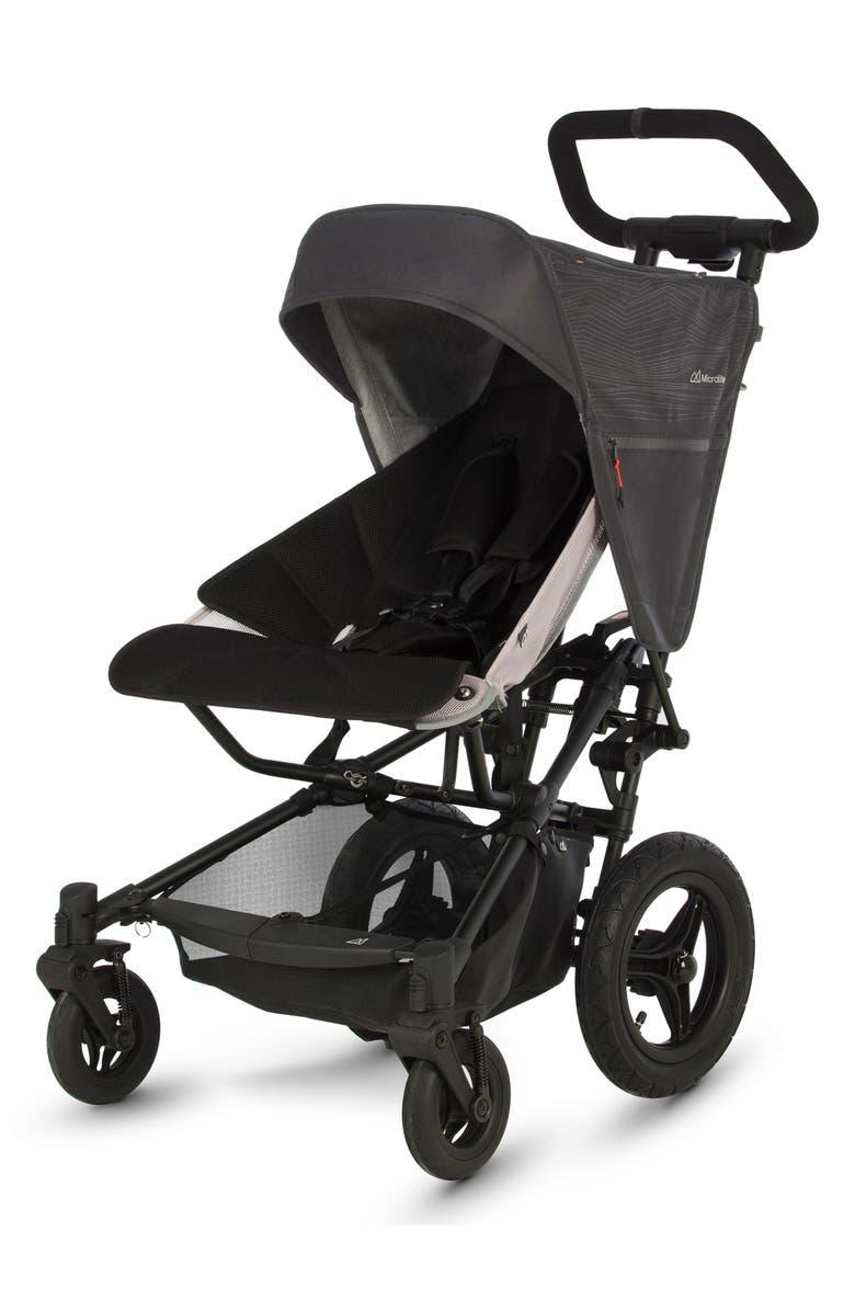 MICRALITE FastFold All-Terrain Stroller, Main, color, BLACK