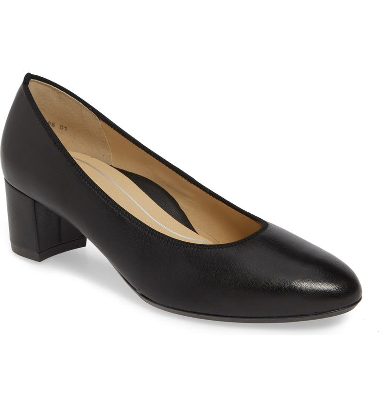 ARA Kendall Pump, Main, color, BLACK NAPPA LEATHER