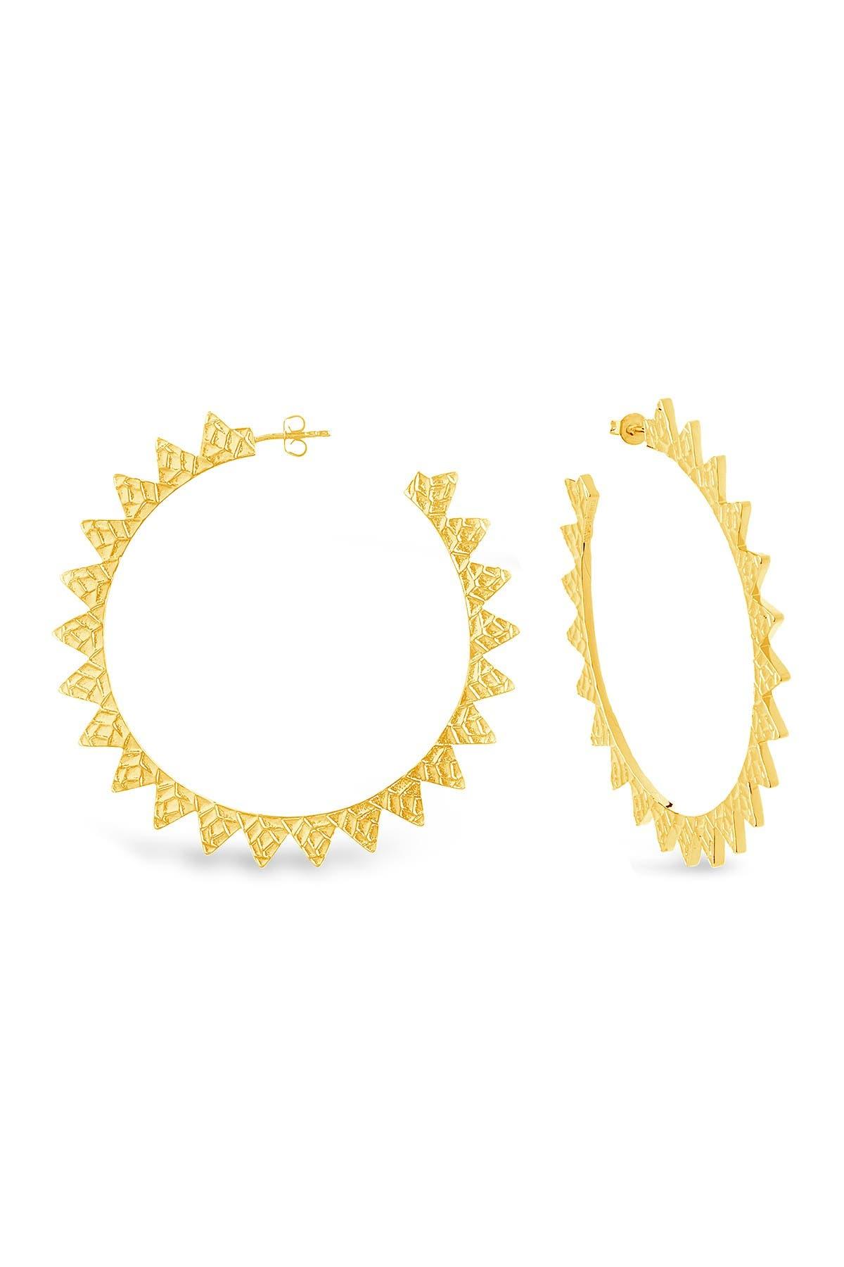 Golden flare hoops
