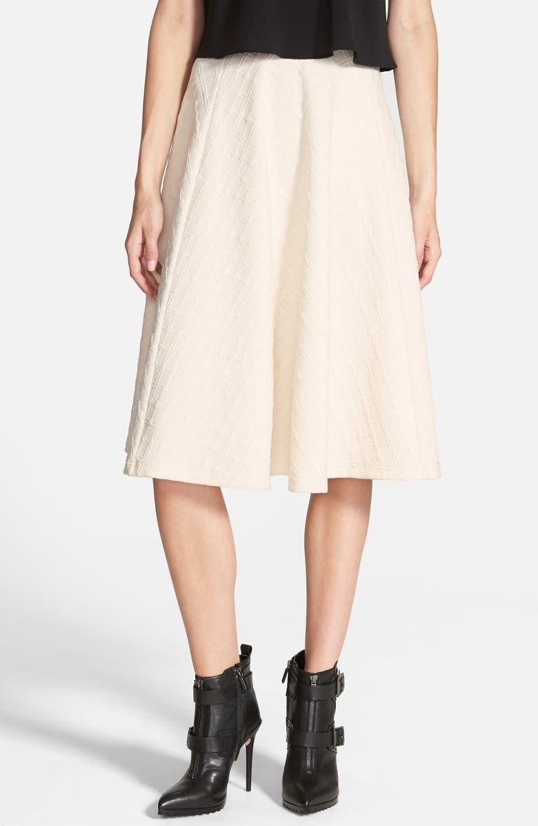 J.O.A. Textured Midi Skirt, Main, color, 900