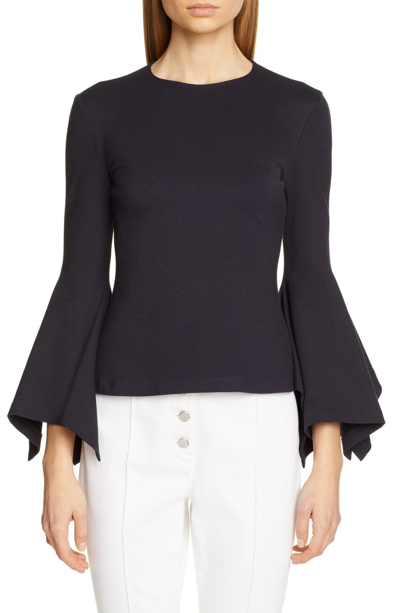 ROSETTA GETTY Full Sleeve Jersey Top, Main, color, 410