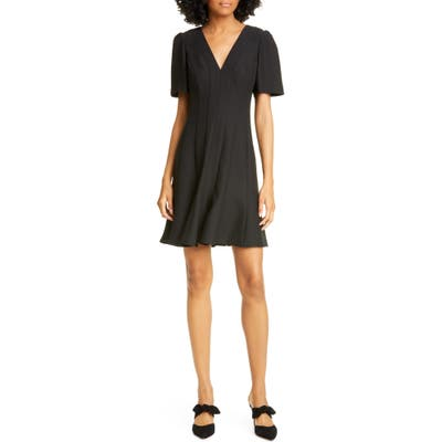 Kate Spade New York Panel Crepe A-Line Dress, Black