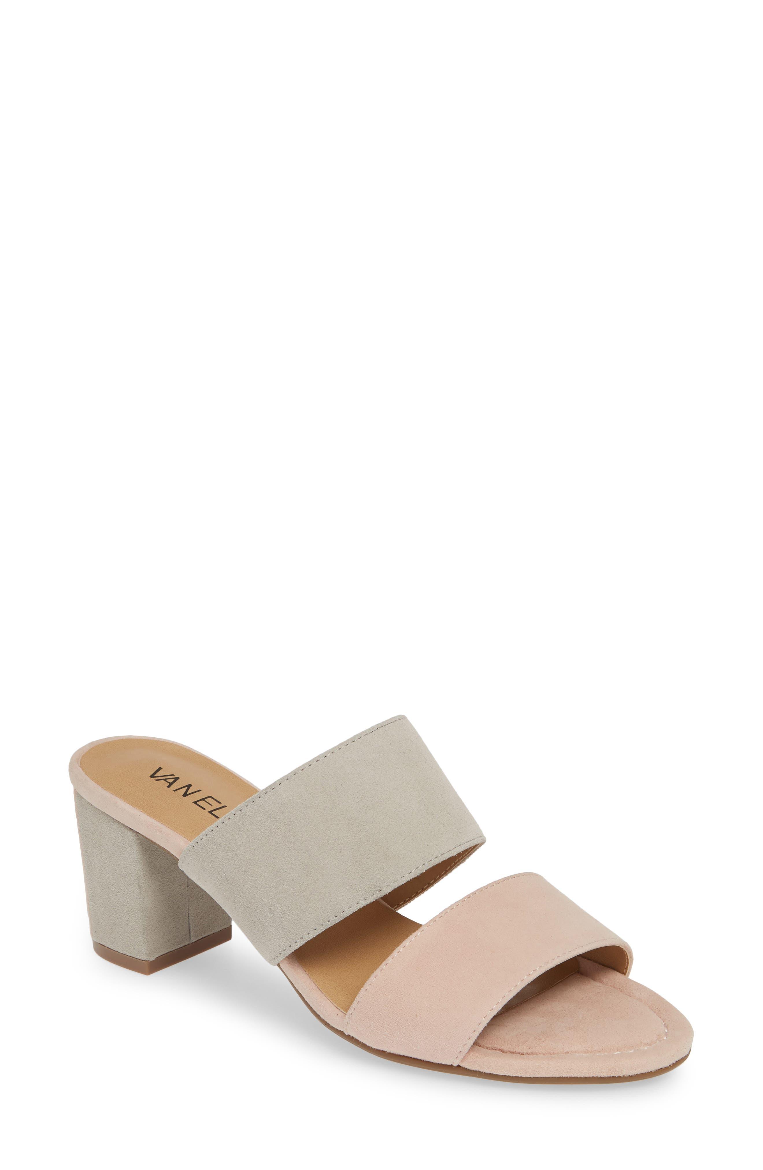Matida Slide Sandal, Main, color, BLUSH/ DOVE SUEDE