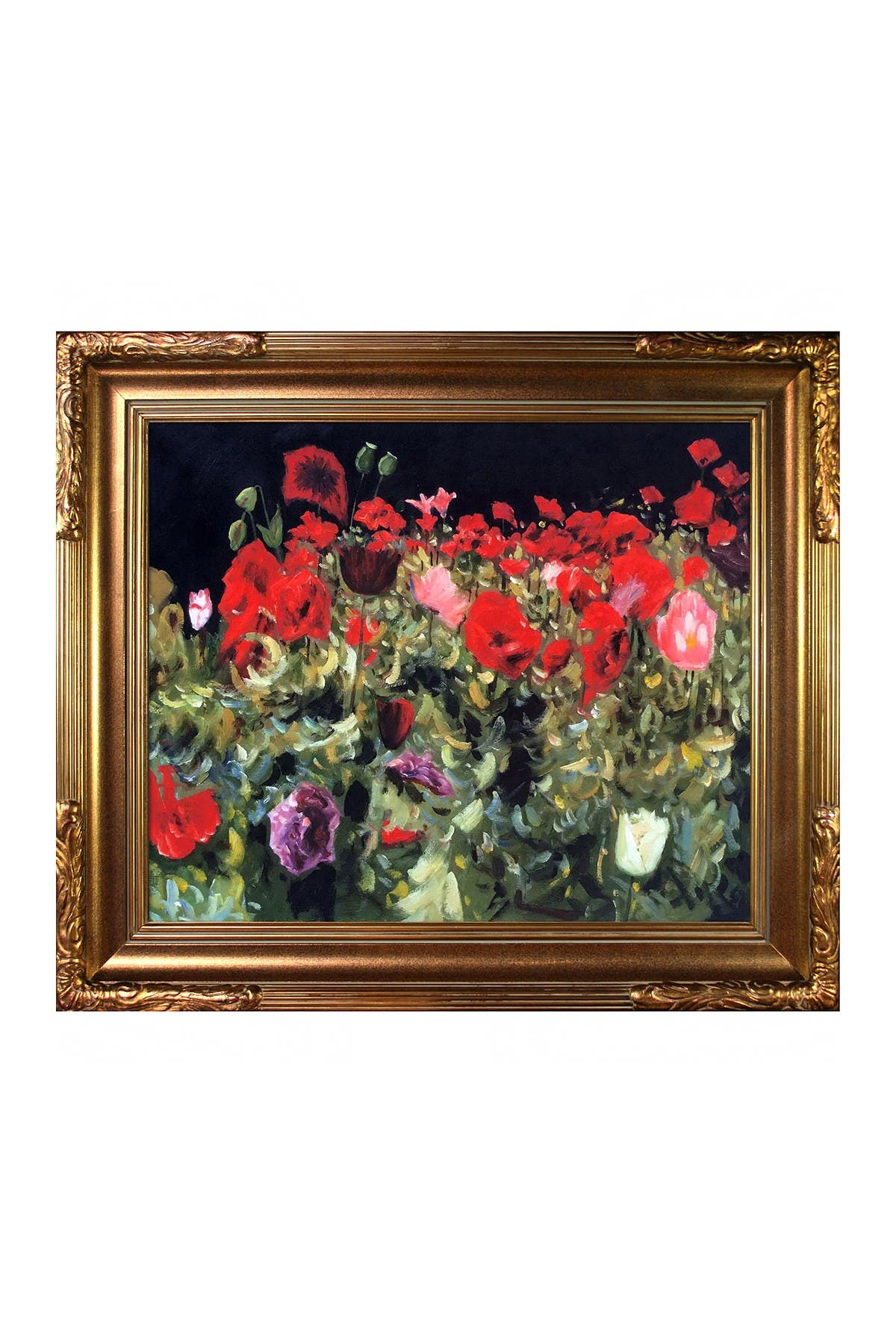 """Image of Overstock Art Poppies with Florentine Gold Frame, 27"""" x 31"""""""