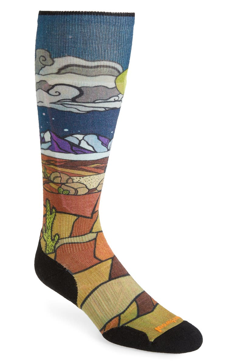 SMARTWOOL PhD<sup>®</sup> Buttermilk Nights Ski Light Elite Socks, Main, color, DEEP NAVY