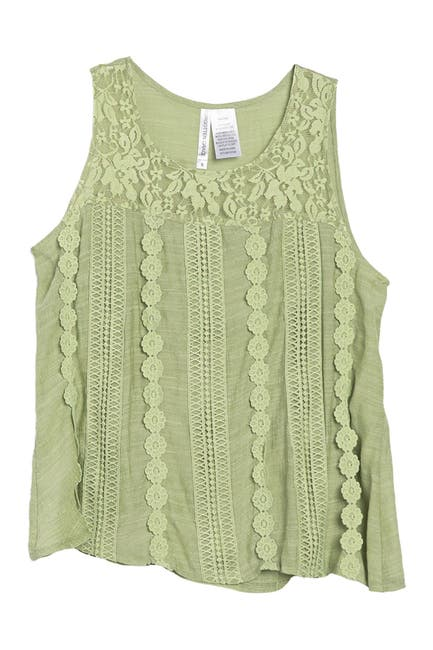Image of Forgotten Grace Embroidered Knit Tank Blouse