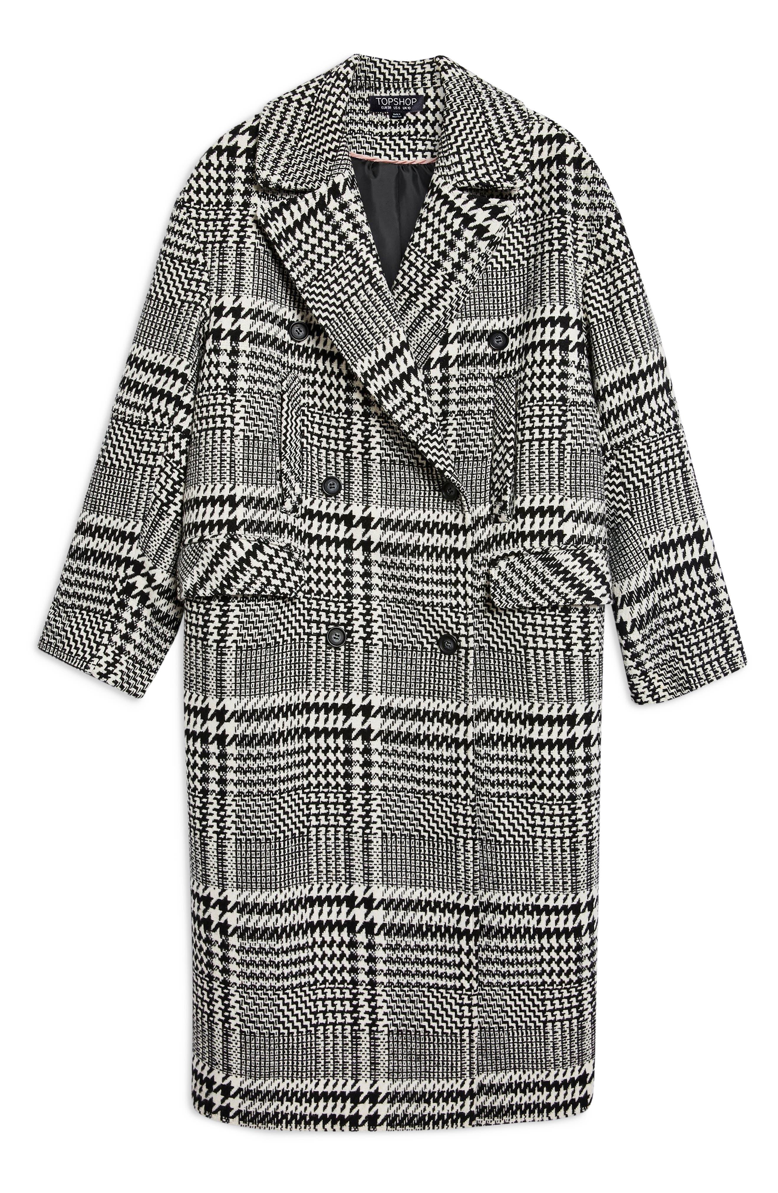 ,                             Kim Check Coat,                             Alternate thumbnail 5, color,                             001