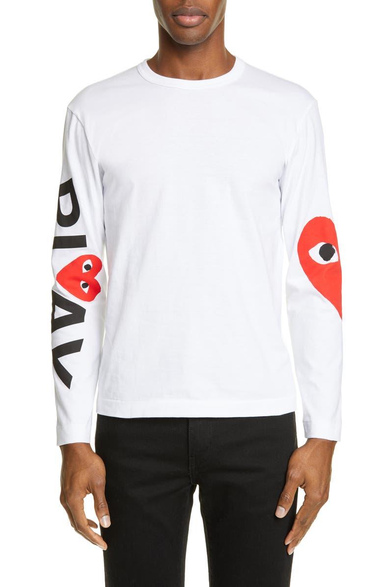 Play Logo Long Sleeve T Shirt by Comme Des GarÇons