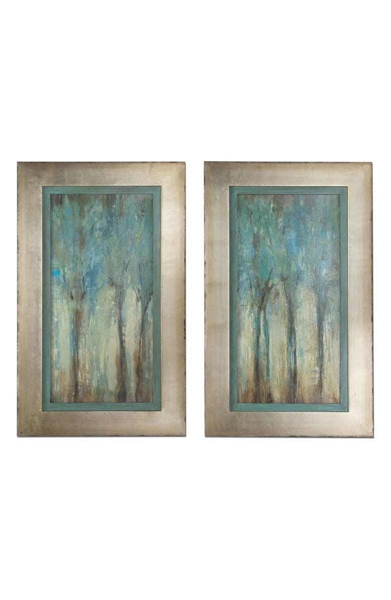 UTTERMOST Two-Panel Whispering Wind Wall Art, Main, color, BLUE/ GRAY/ GREEN