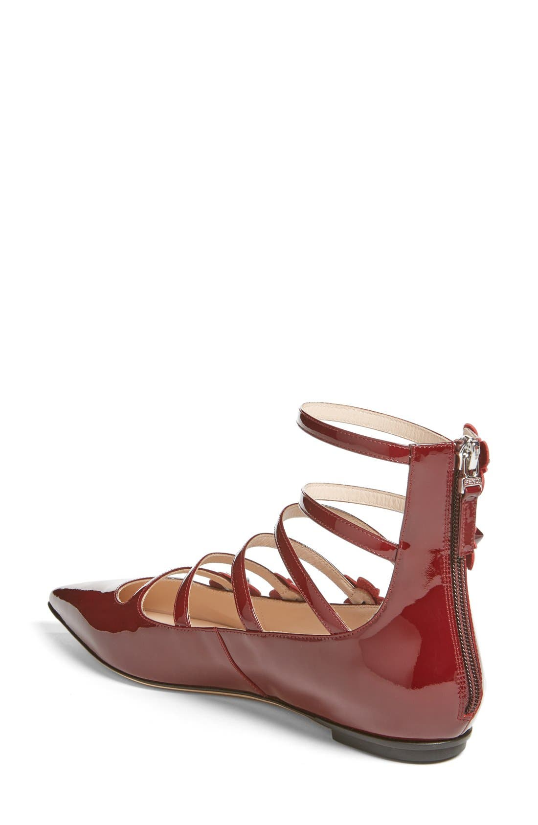 ,                             'Flowerland' Strappy Flat,                             Alternate thumbnail 10, color,                             601