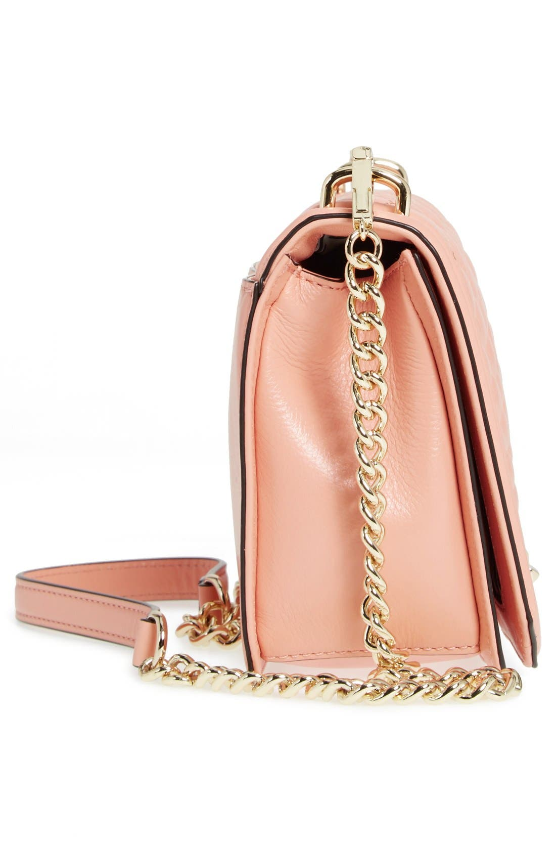 ,                             Love Leather Crossbody Bag,                             Alternate thumbnail 166, color,                             950