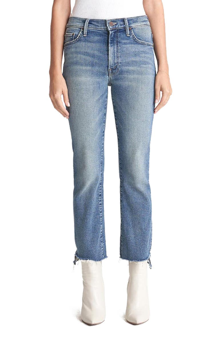 MOTHER The Insider High Waist Crop Step Fray Jeans, Main, color, 421