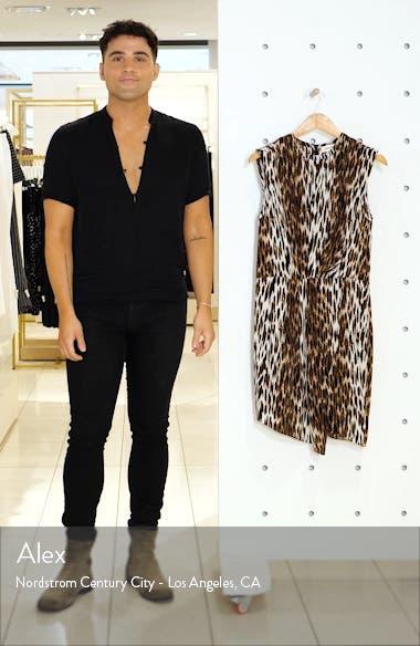 Cipriana Leopard Print Asymmetrical Silk Dress, sales video thumbnail