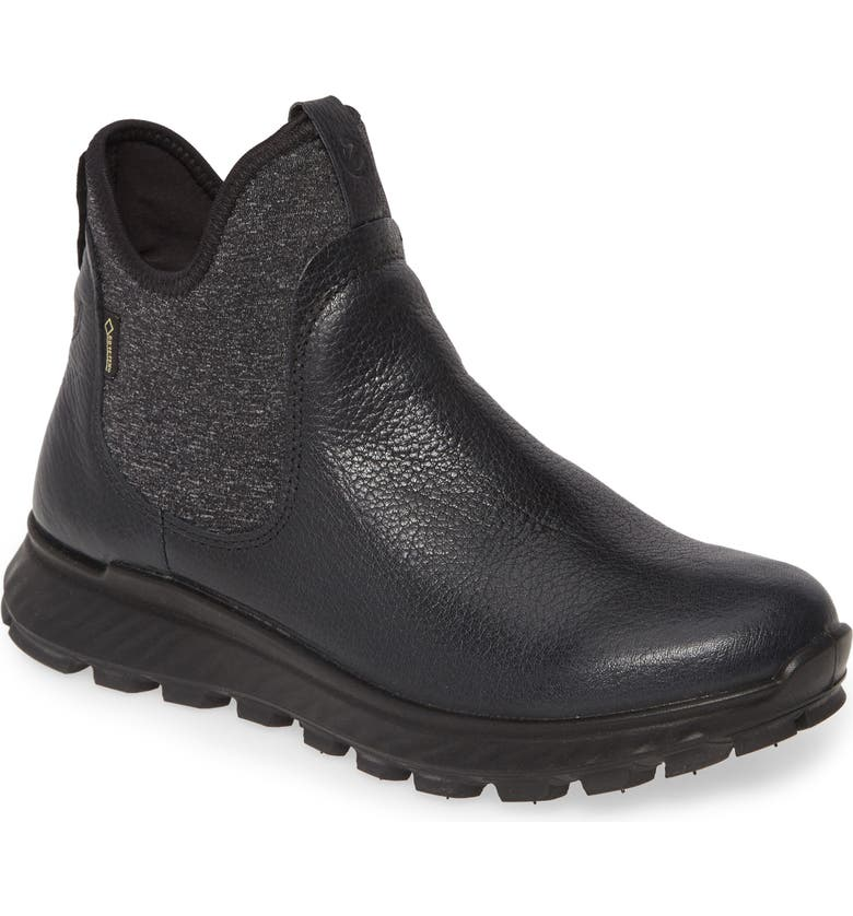 ECCO Exostrike Gore-Tex<sup>®</sup> Sneaker Boot, Main, color, BLACK LEATHER