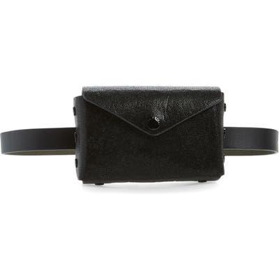 Rag & Bone Atlas Textured Leather Belt Bag - Black