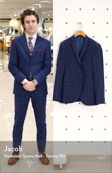 Jile Trim Fit Windowpane Wool Blazer, sales video thumbnail