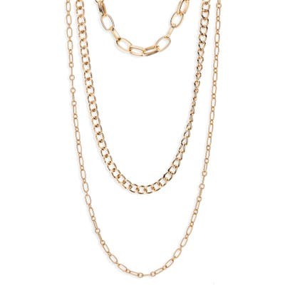 Bp. Triple Layered Chain Link Necklace