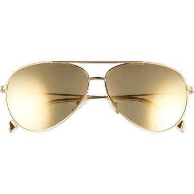 Celine 61mm Aviator Sunglasses - Gold/ Brown Mirror