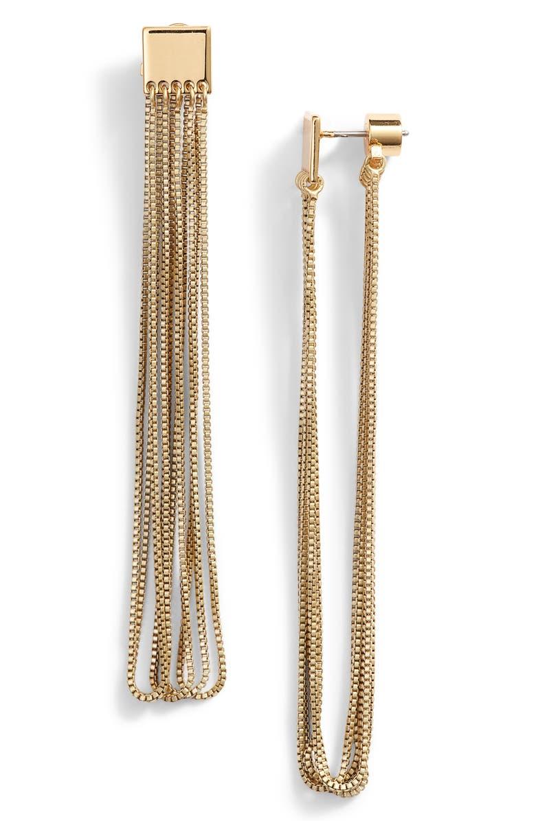JENNY BIRD Chloe Drape Earrings, Main, color, GOLD
