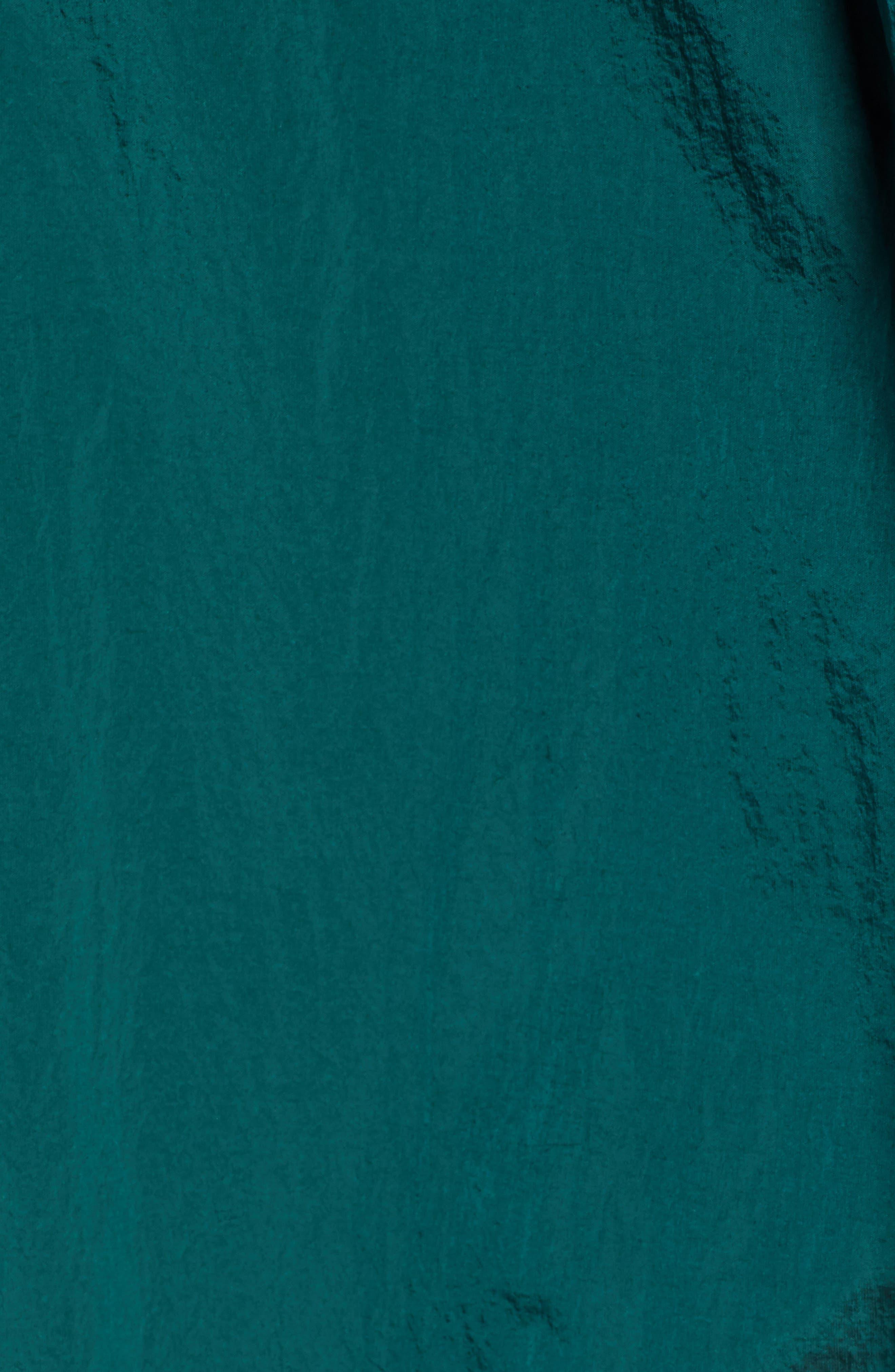 ,                             Crinkle Nylon Long Hooded Parka,                             Alternate thumbnail 5, color,                             GREEN