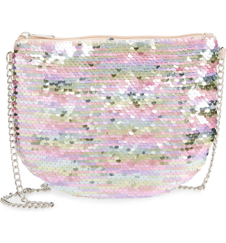 CAPELLI NEW YORK Flip Sequin Crossbody Bag, Main, color, 960