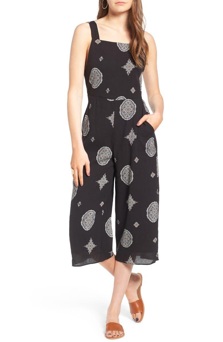 LIRA CLOTHING Priya Crop Jumpsuit, Main, color, 001