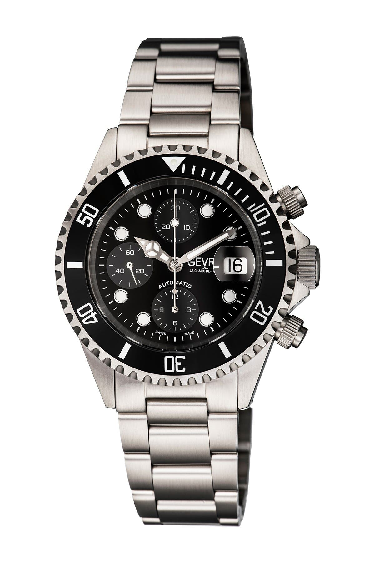 Image of Gevril Men's Wall Street Swiss Automatic Watch, 43mm