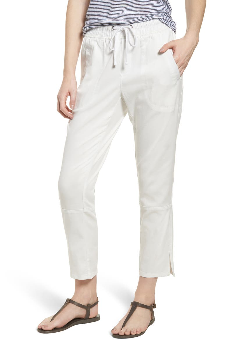NIC+ZOE Open Road Ankle Pants, Main, color, PAPER WHITE