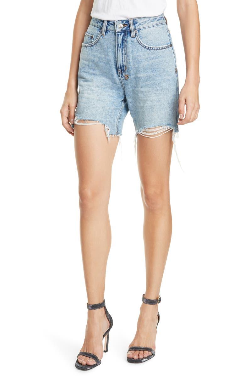 KSUBI x Kendall Jenner Racer Denim Shorts, Main, color, DENIM