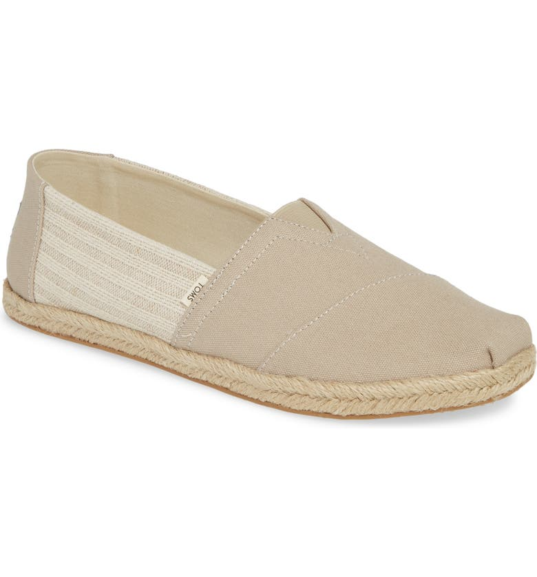 TOMS Classic Alpargata Slip-On, Main, color, TAN CANVAS
