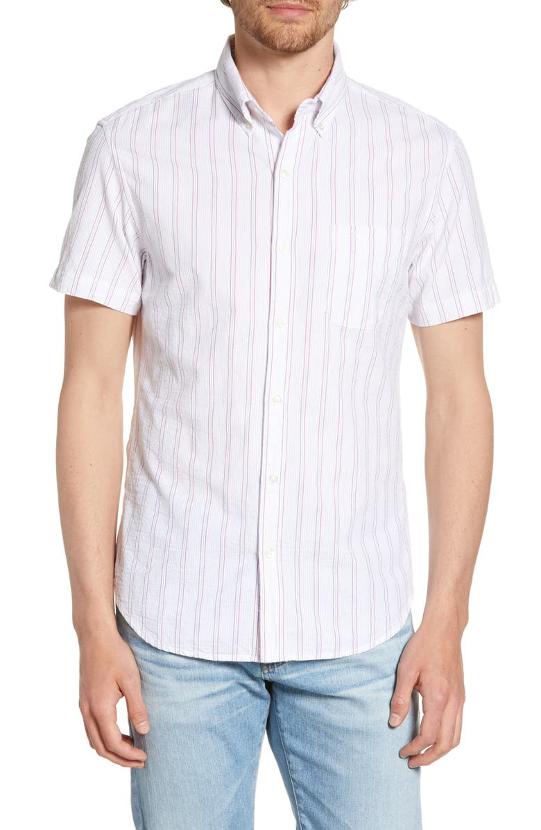 BONOBOS Riviera Slim Fit Mission Stripe Shirt, Main, color, MISSION STRIPE