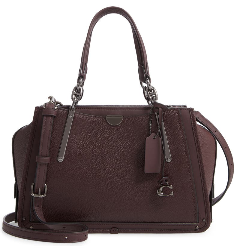 COACH Dreamer Mixed Leather Shoulder Bag