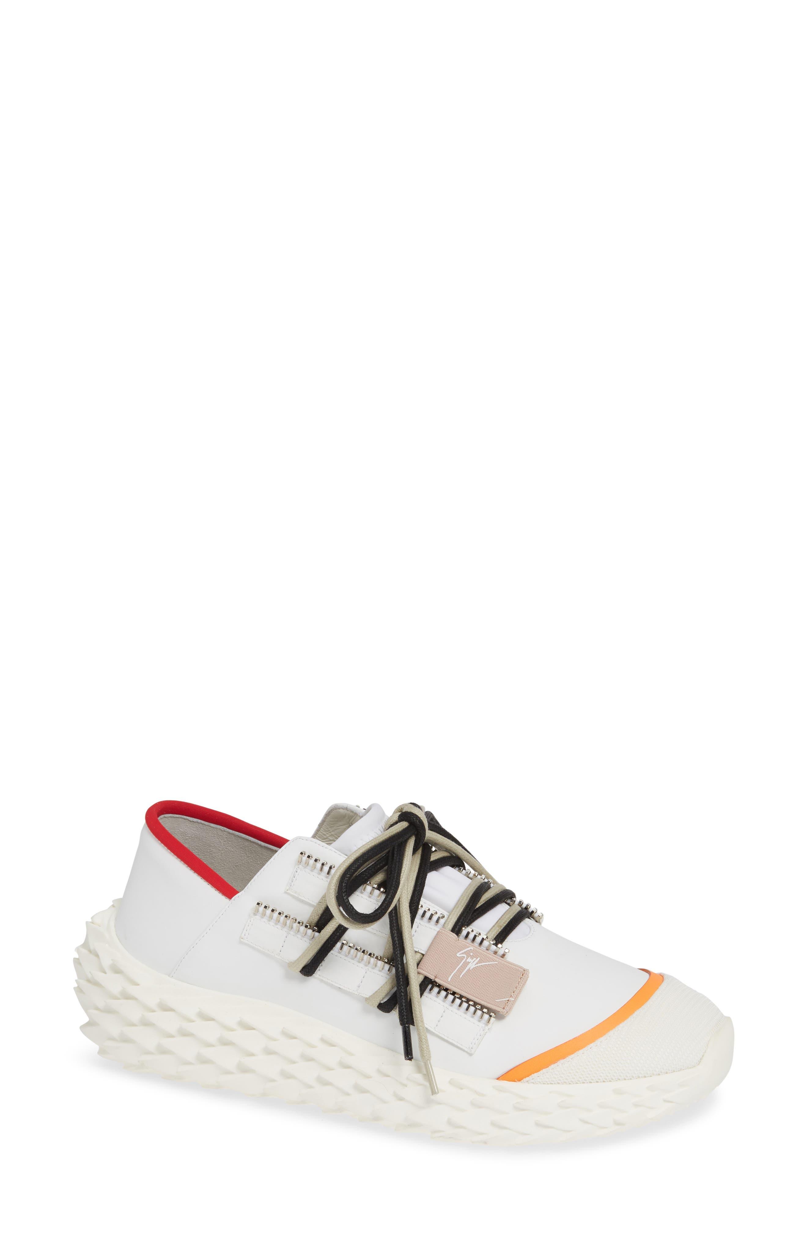 Scale Sole Sneaker, Main, color, WHITE
