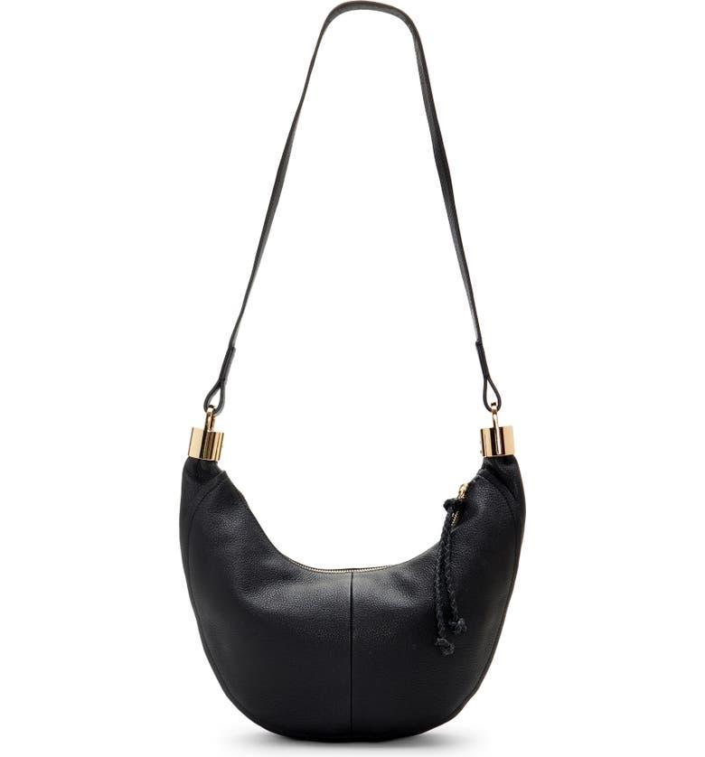 VINCE CAMUTO Melis Leather Crossbody Bag, Main, color, 001