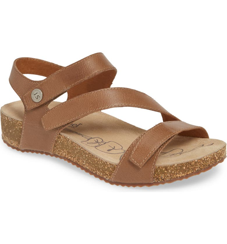 JOSEF SEIBEL 'Tonga' Leather Sandal, Main, color, CREME LEATHER