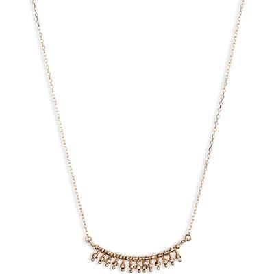 Mizuki 14K Gold Frontal Fringe Necklace