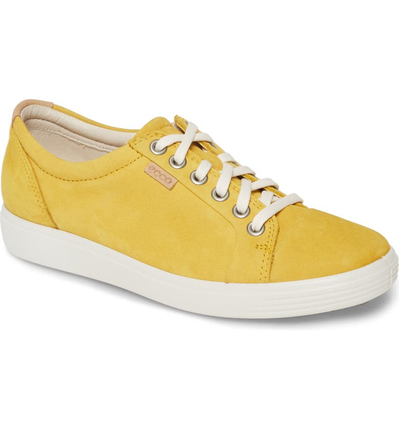 ECCO Soft 7 Sneaker, Main, color, MARIGOLD LEATHER
