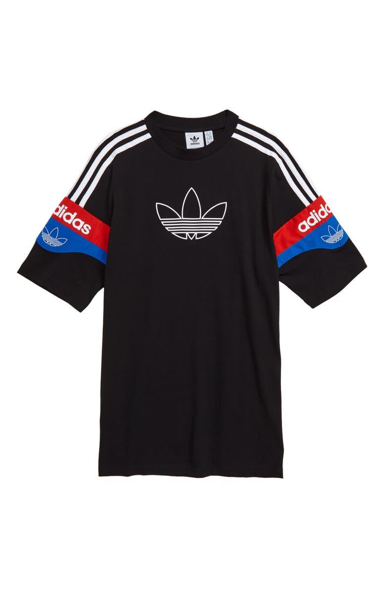 ADIDAS ORIGINALS Outline Graphic T-Shirt, Main, color, BLACK/ WHITE