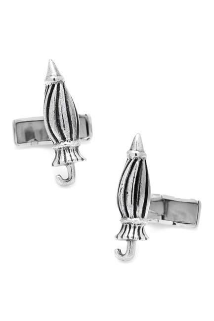 Image of Cufflinks Inc. Sterling Silver When It Rains It Pours Umbrella Cuff Links