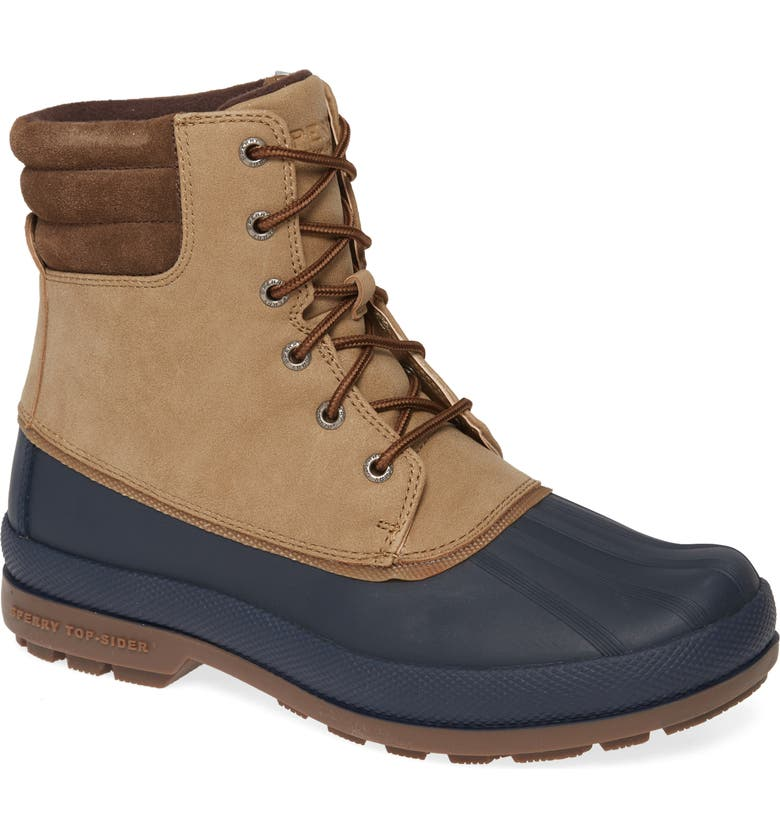 SPERRY Cold Bay Duck Boot, Main, color, TAUPE/ NAVY