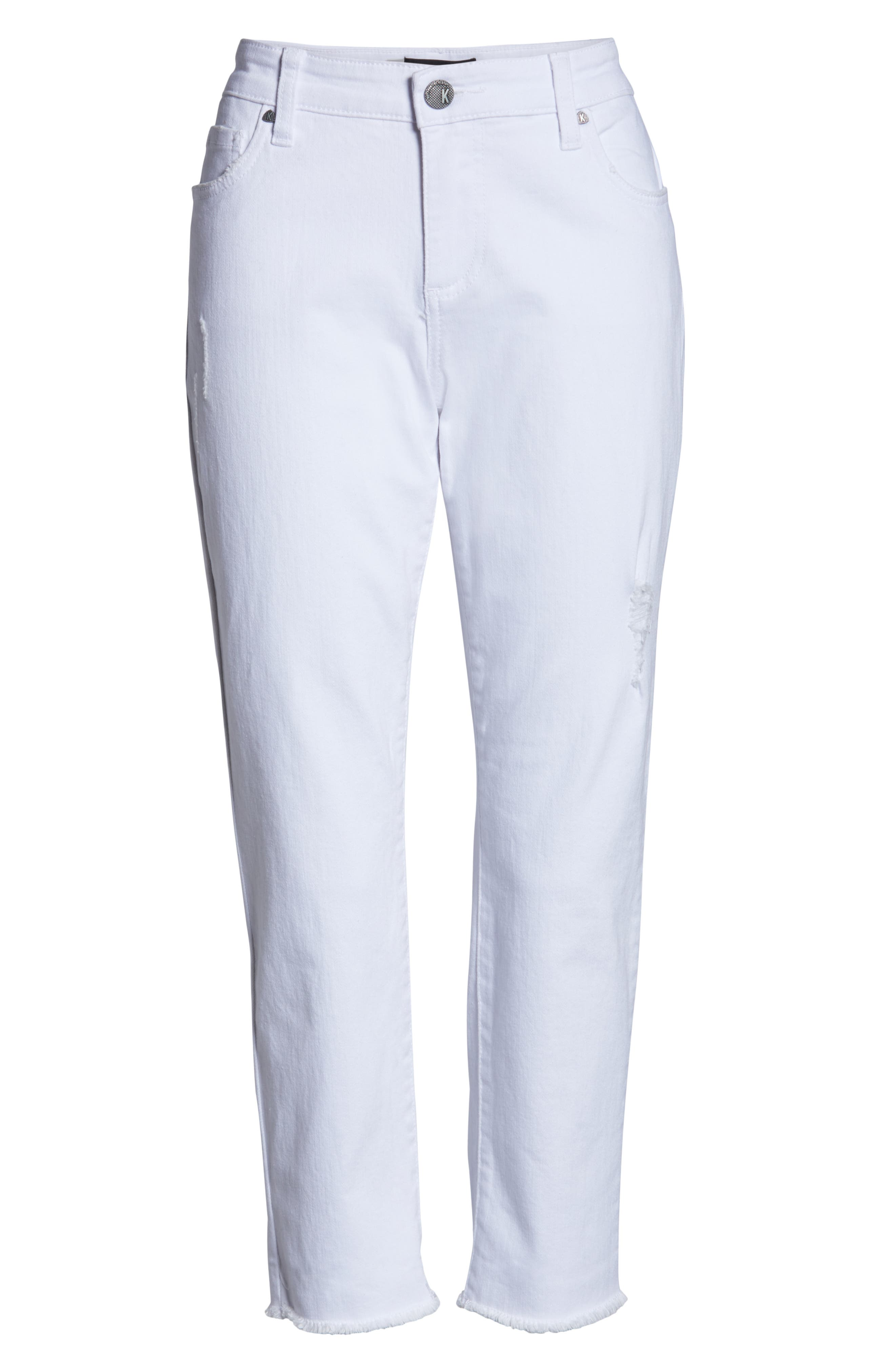 ,                             Amy Crop White Jeans,                             Alternate thumbnail 5, color,                             OPTICAL WHITE