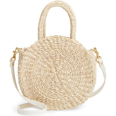 Clare V. Petite Alice Straw Bag - Ivory
