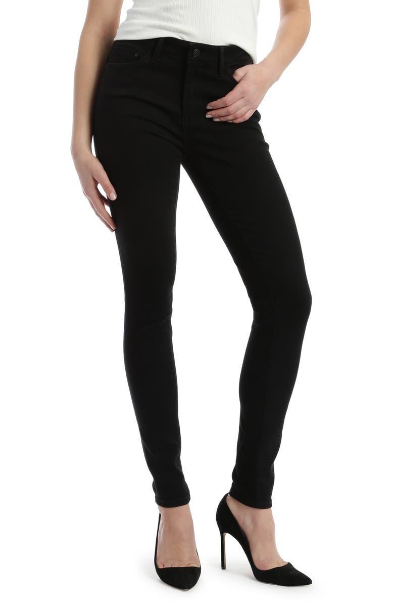 MAVI JEANS Alissa Super Skinny Jeans, Main, color, BLACK BRUSHED SUPERSOFT