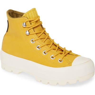 Converse Chuck Taylor All Star Gore-Tex Waterproof Lugged High Top Sneaker, Yellow