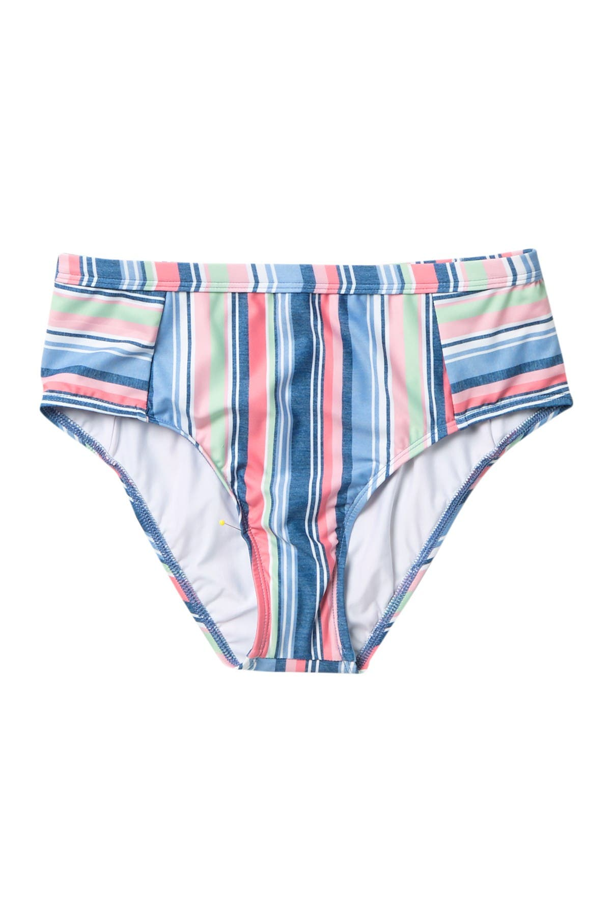 Image of Splendid Holding Pattern High Waisted Bikini Bottoms