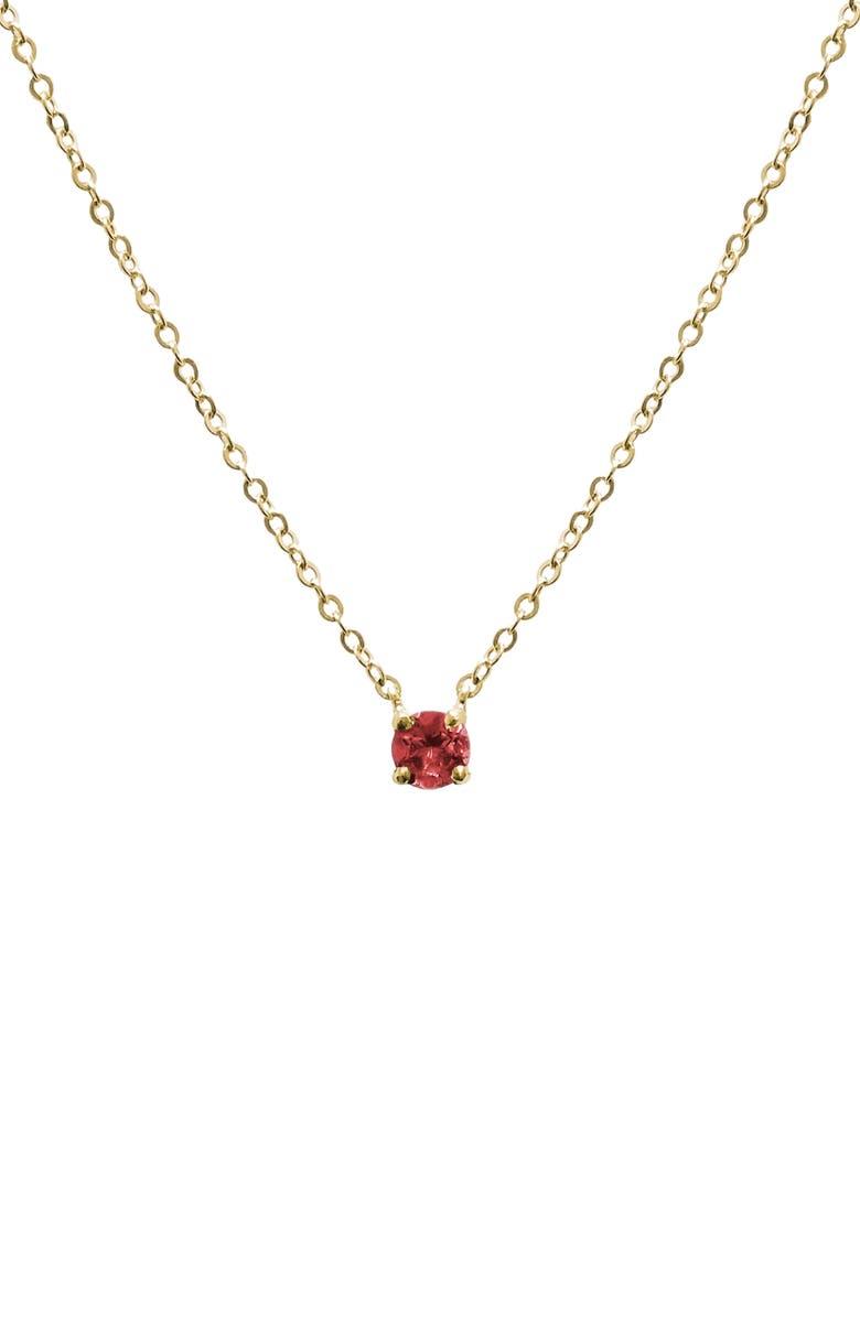 JANE BASCH DESIGNS Birthstone Pendant Necklace, Main, color, GARNET/ JANUARY