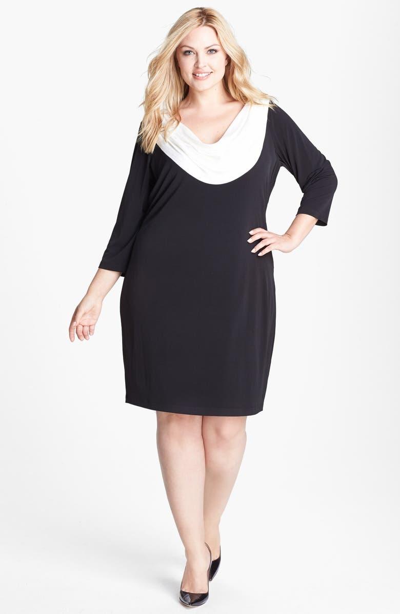 Calvin Klein Sequin Cowl Neck Sheath Dress Plus Size