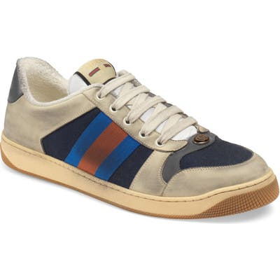 Gucci Screener Low Top Sneaker, Blue