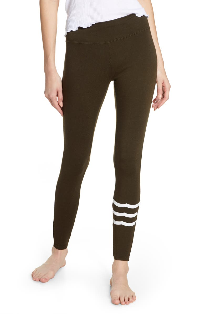 SOL ANGELES Wave Lounge Leggings, Main, color, MILITARY